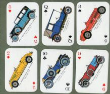 Collectible vintage playing cards Antique Autos,Buick, Rolls Royce,